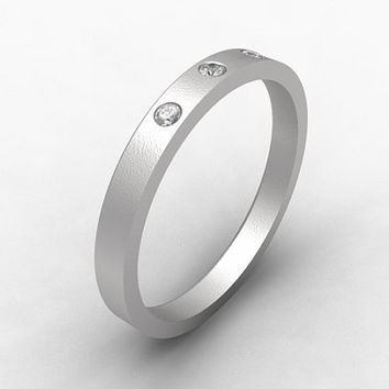Titanium ring, Diamond wedding, Thin wedding ring, Titanium wedding band, Diamond ring, modern, Wedding band, promise ring