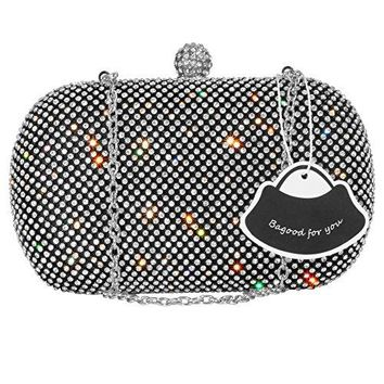 Bagood Womens Rhinestone Crystal Evening Bags Clutches Purses Handbag Shoulder Bag for Wedding