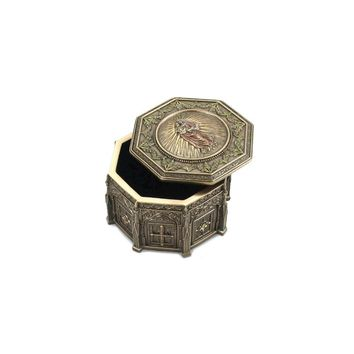 Madonna Holding Baby Jesus Octagonal Rosary Box - Perfect Religious Gift