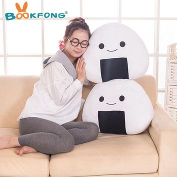 1PC Japanese sushi rice pillow cushion creative stuffed plush toy cute balls doll the second element dumpling doll
