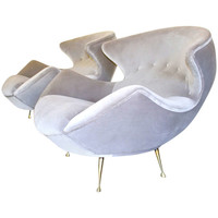 Rare and Exquisite pair of Vintage Sculptural Lounge Chairs. c.1950's