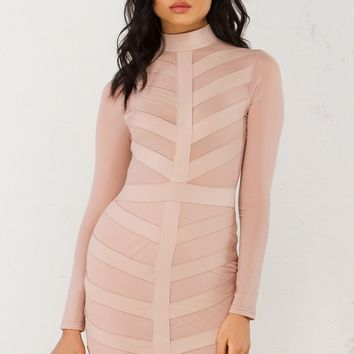 BABY BABY SPICE BANDAGE LONGSLEEVE DRESS - What's New
