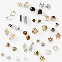 20 Pack Sparkly Stud Earring Set from EXPRESS