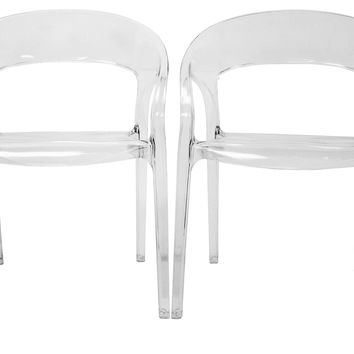 Chole Dining Chairs, Pair, Acrylic / Lucite, Dining Chair Sets