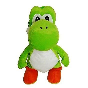 Super Mario Green Yoshi Plush Backpack Bag