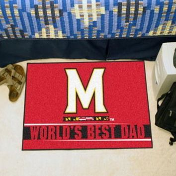 FANMATS University of Maryland World's Best Dad Starter Mat Rug
