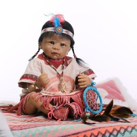 Native American Indian Reborn Baby Doll Silicone Newborn