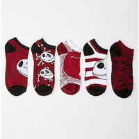Nightmare Before Christmas No Show Socks- 5 Pair - Spencer's