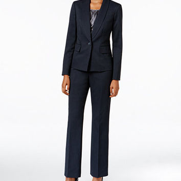 Le Suit Three-Piece One-Button Pantsuit - Wear to Work - Women - Macy's