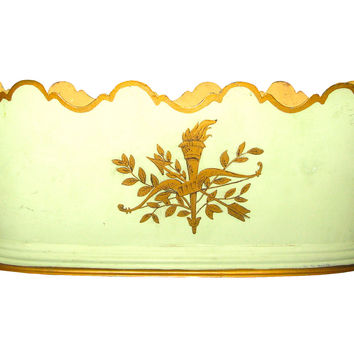Tole Cachepot Planter French