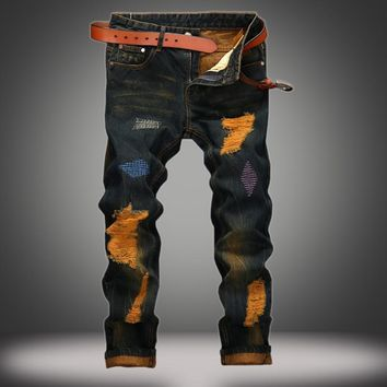 Strong Character Weathered Slim Vintage Jeans [10366809731]