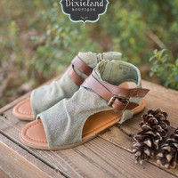 The Bessie Sandals in Olive