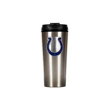 Indianapolis Colts Primary Logo 16 oz Stainless Steel Travel Mug Tumbler Cup