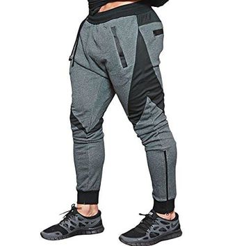 Men's Joggers Pants Gym Workout Pant Running Trousers with Pockes
