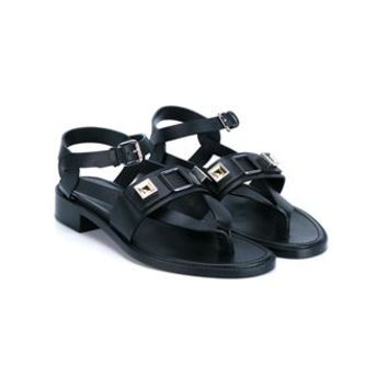 PROENZA SCHOULER   Embellished Leather Sandals   brownsfashion.com   The Finest Edit of Luxury Fashion   Clothes, Shoes, Bags and Accessories for Men & Women