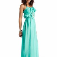ruffle maxi dress $31.70 in MINT - Casual | GoJane.com