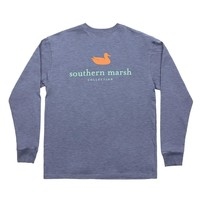 Authentic Long Sleeve Tee in Washed Slate by Southern Marsh - FINAL SALE