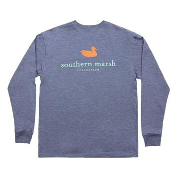 Authentic Long Sleeve Tee in Washed Slate by Southern Marsh