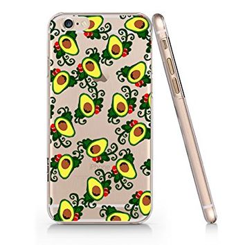 Avocado Pattern Slim Iphone 6 6S Case, Clear Iphone 6 6S Hard Cover Case For Apple Iphone 6/6S -Emerishop (AH1221)