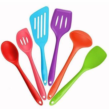 Silicone Coating Nylon Utensils Spatula Salad Spoon