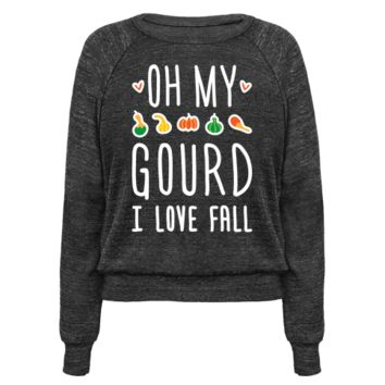 OH MY GOURD I LOVE FALL (WHITE) PULLOVERS