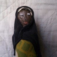 Fatu - OOAK Mixed Media Muslimah Art Doll Made from Recycled Material