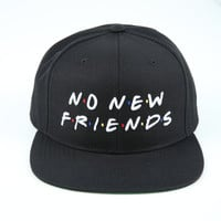The Friends Snapback in Black