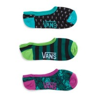 Vans Floral Camo Canoodles 3 Pair Pack (Black/Green)