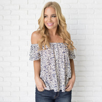 Bailamos Off Shoulder Print Top