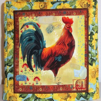 Kitchenaid Mixer Cover, Rooster and Sunflowers, Artisan Mixer Cover, Stand Mixer Cover