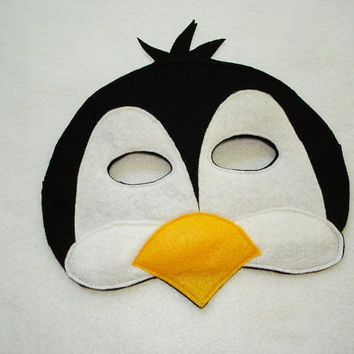 PENGUIN Animal Felt Mask for Boys