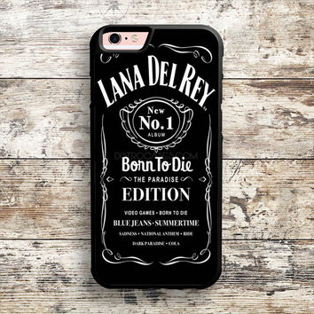 iPhone 6 6s 5s 5c 4s Cases, Samsung Galaxy Case, iPod Touch 4 5 6 case, HTC One case, Sony Xperia case, LG case, Nexus case, iPad case, Lana Whiskey Del Rey Daniels Jack Cases