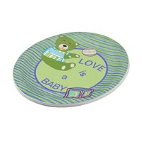 Vidaloca Bear Love is a Baby Paper Plate