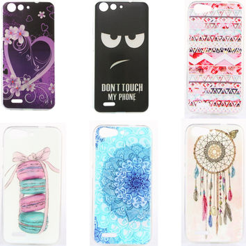Hot Selling Soft Silicone phone Protective Case for ZTE Blade X7 Z7 D6 V6 5.0 TPU Back cover Etui Dont Touch My Phone Macaroon