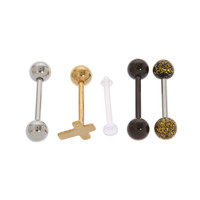 Morbid Metals 14G Gold Cross Barbell 5 Pack | Hot Topic
