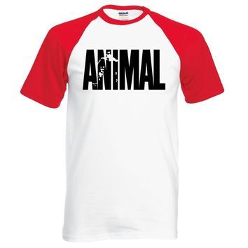 Hot Sale Bodybuilding Animal T Shirt 2017 Summer Casual Crossfit Fitness Men T-shirt Loose Fit Gyms Musclefitting Male Tops Tees