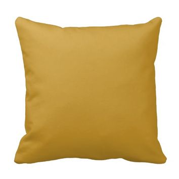 Mustard Yellow Solid Decorative Throw Couch Pillow