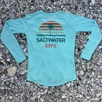 Saltwater Hippie Women's Performance DriFit Shirt - Seafoam