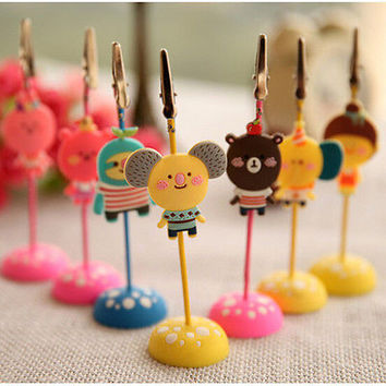 Cute Memo Holder Photo Picture Paper Note Clip Stand Place Card Hot
