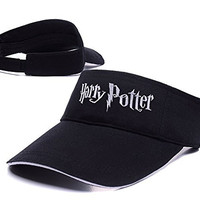 DEBANG Harry Potter Logo Adjustable Visor Cap Embroidery Sun Hat Sports Visors