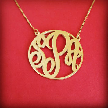 Small Monogram Necklace 14k Gold Monagram Necklace Tiny Monogram Necklace Birthday Gift Monogram Gold Initials Necklace Gift For Woman Gold