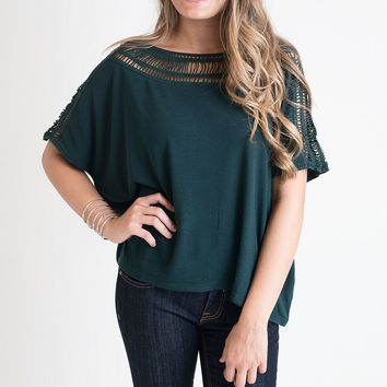 Cage Me In Green Cut Out Top