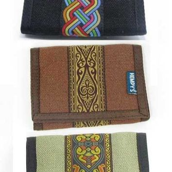 Hemp Wallet Tri-fold - Tattoo Stripe
