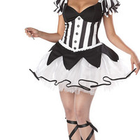 2016 New Arrival Sexy Clown Costume Circus Costume Halloween Carnival Women Clothes