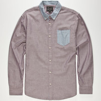 Retrofit Ringleader Mens Oxford Shirt Red  In Sizes
