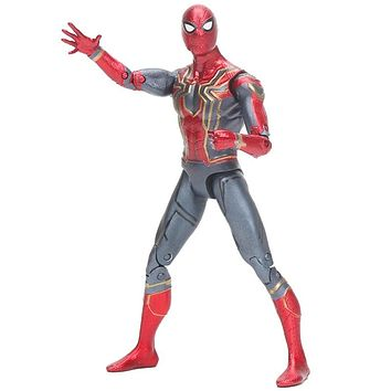 15cm Marvel the avengers 3 Infinity War Iron Spider Man Amazing spiderman movable Action Figure model toy for kids gift