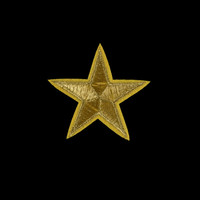 Metallic Gold Star Patch