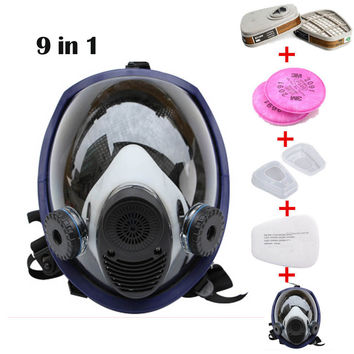 9 Piece Suit Updated Painting Spraying Similar For 6800 Gas Mask Full Face Facepiece Respirator