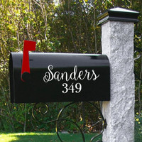 "FREE SHIPPING! - 8"" Mailbox Decal with Name"
