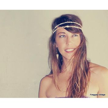 Mermaid Crown Seashell Headband Summer Festival Flapper Wedding Hawaiian Ocean Head Piece / Made to order